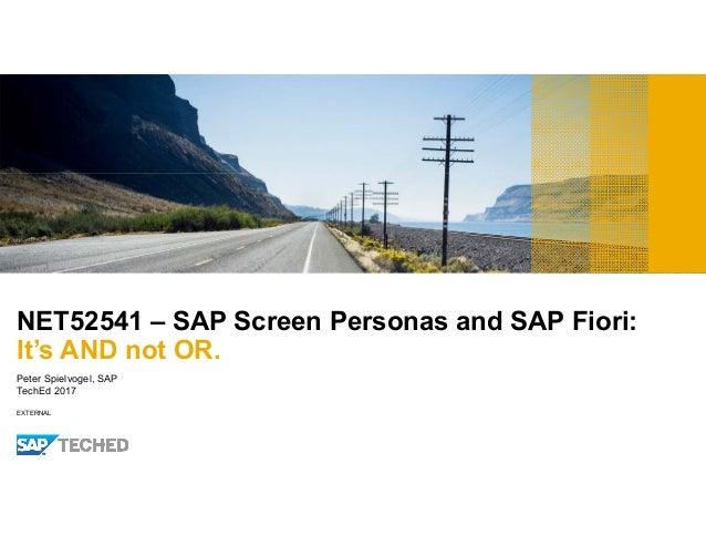 Fiori 2017.Sap Teched 2017 Fiori And Sap Screen Personas Net 52541