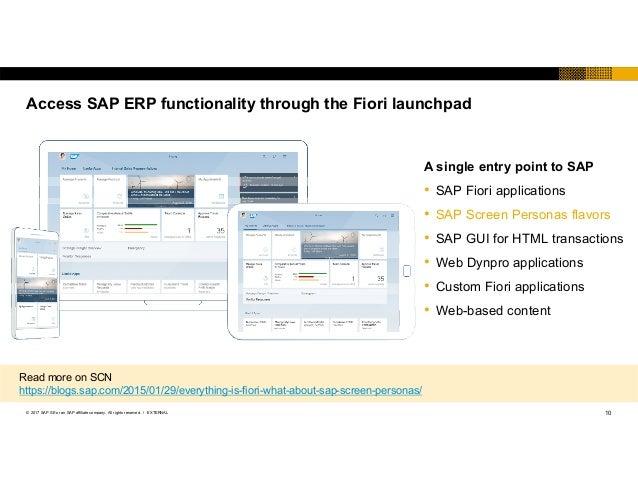 SAP TechEd 2017 Fiori and SAP Screen Personas NET 52541