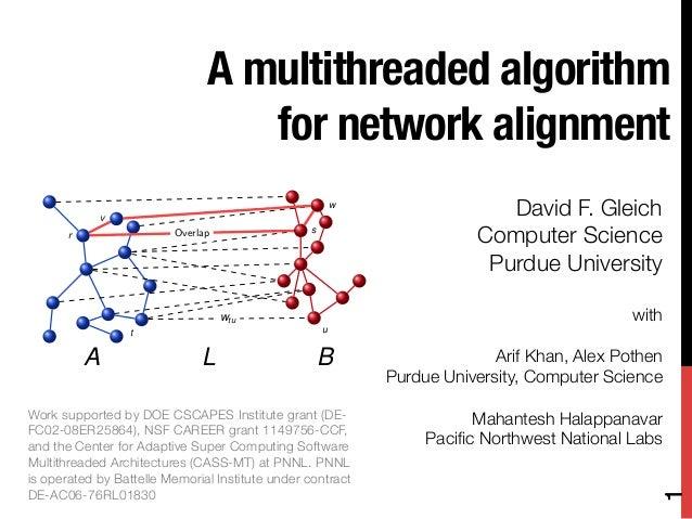 A multithreaded algorithm                                  for network alignment                v                         ...