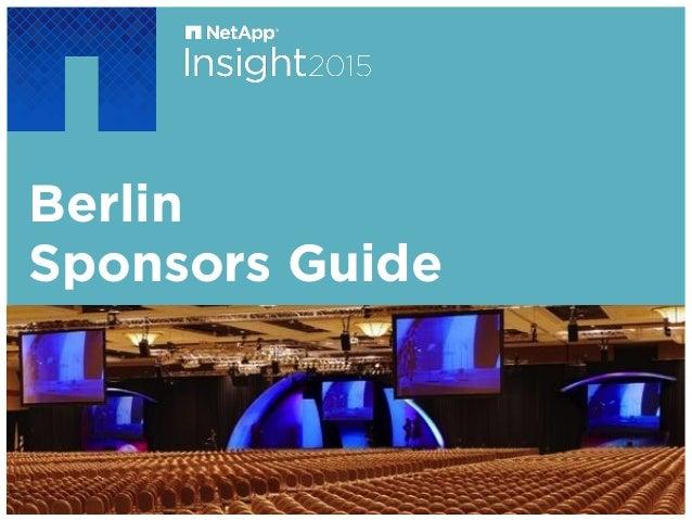 Berlin Sponsors Guide October 12-15 | Las Vegas
