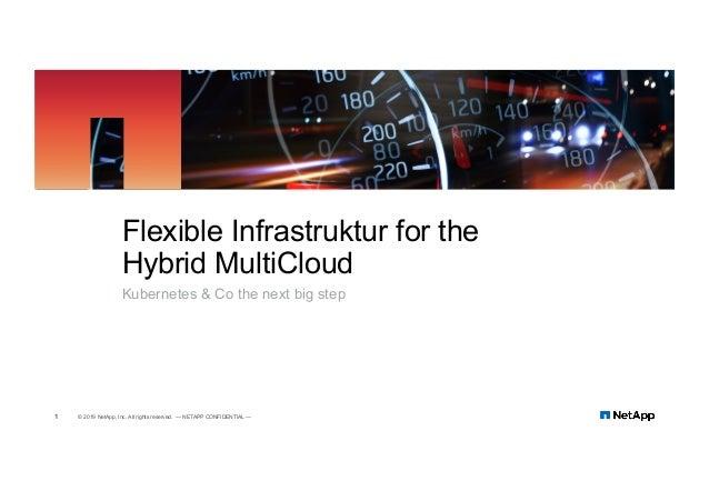 Kubernetes & Co the next big step Flexible Infrastruktur for the Hybrid MultiCloud 1 © 2019 NetApp, Inc. All rights reserv...