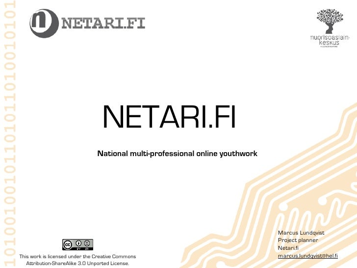 NETARI.FI                                 National multi-professional online youthwork                                    ...