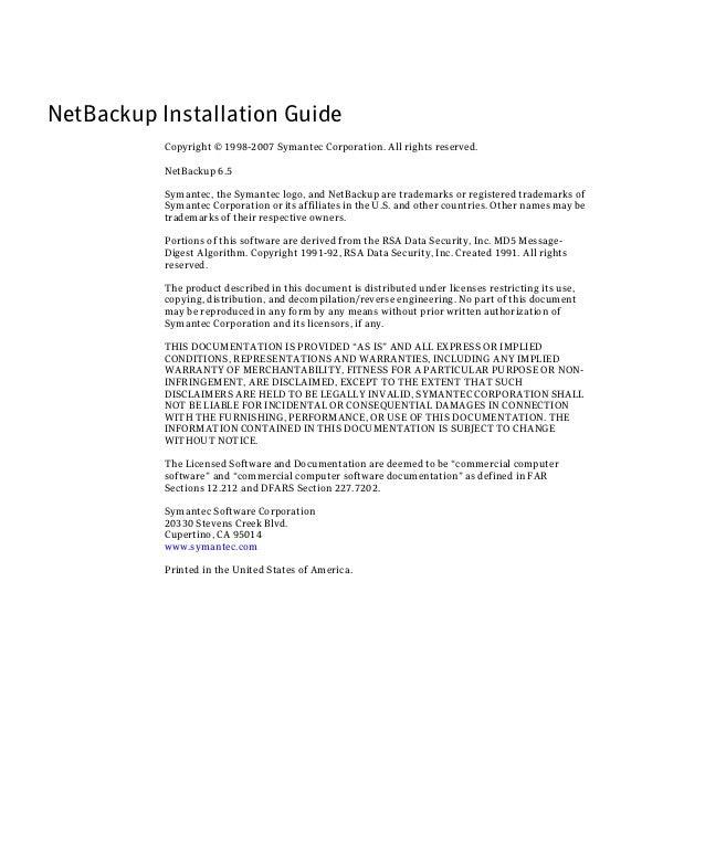 Netbackup intallation guide