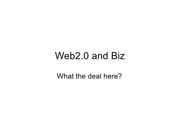 Web2.0 and Biz What the deal here? www.Entrepreneurs.my