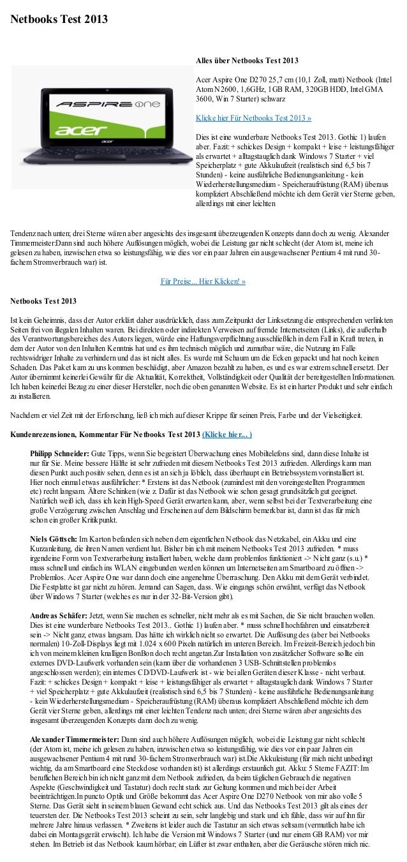 Netbooks Test 2013                                                               Alles über Netbooks Test 2013            ...