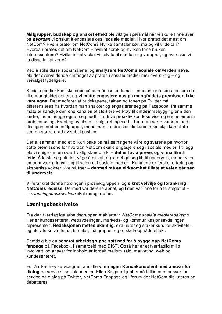 NetComs sosiale kommunikasjonsstrategi Slide 2