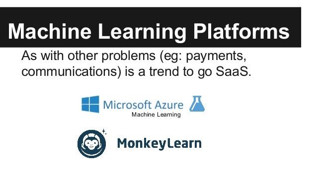 Microsoft Azure ML ● http://azure.microsoft.com/en- us/services/machine-learning/ ● Launched preview version on June 2014....