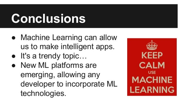 Machine Learning: Artificial Intelligence isn't just a Science Fiction topic