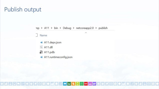 Framework Independent Application dotnet publish -r win10-x64 --self-contained <RuntimeIdentifiers> win10-x64;osx.10.11-x6...