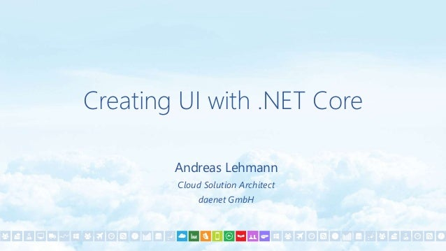 UI with .NET Core?  UI == Desktop UI  No implementation from Microsoft  Is there any platform independent graphics libr...
