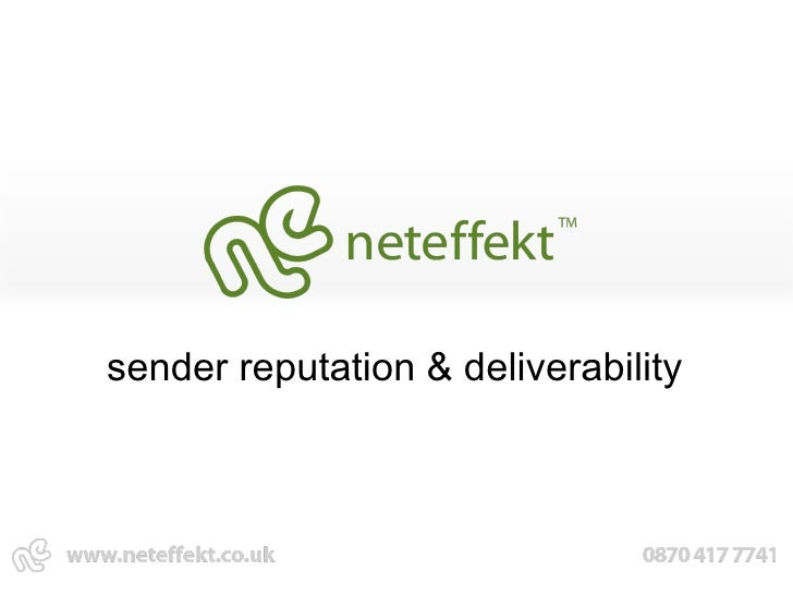 sender reputation & deliverability