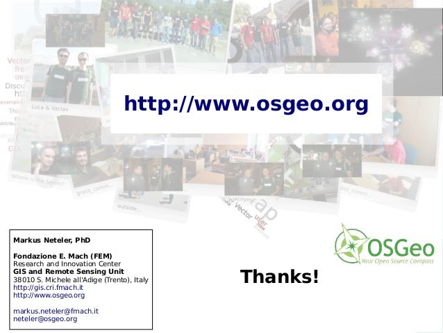 OSGeo: projects, incubation and infrastructure