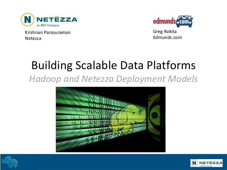 Krishnan Parasuraman       Greg RokitaNetezza                    Edmunds.com  Building Scalable Data Platforms Hadoop and ...