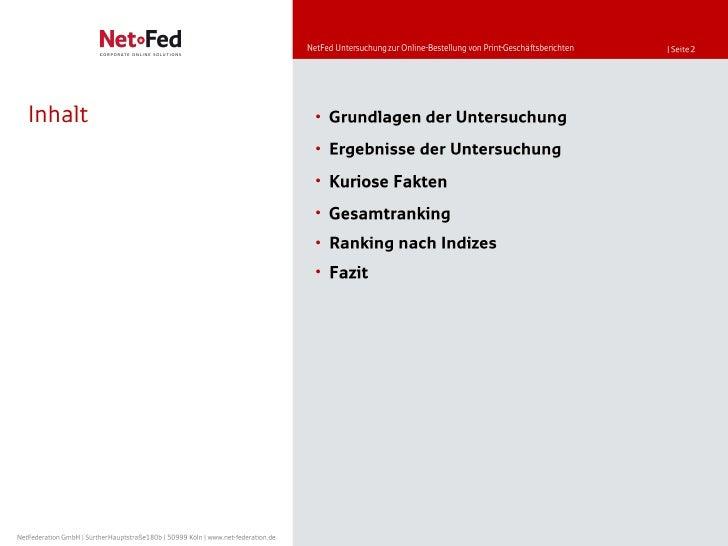 NetFed - Online-Bestellung von Print-Geschäftsberichten Slide 2