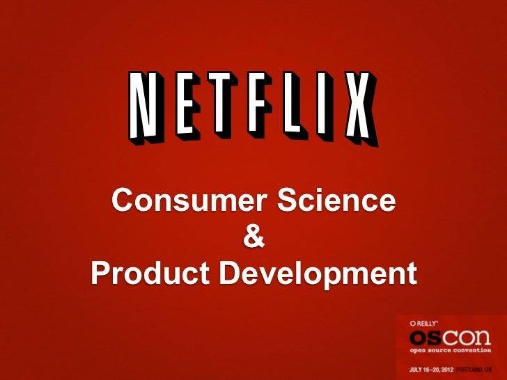Consumer Science         &Product Development