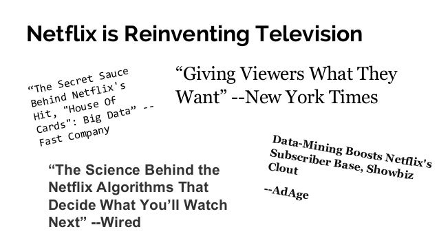 Netflix - Enabling a Culture of Analytics Slide 3