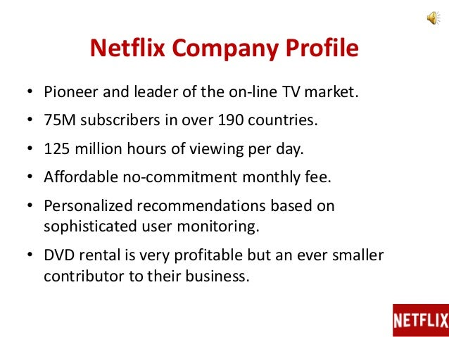 netflix company analysis In this swot analysis of netflix,  but to also gain knowledge about this customer base it's a double win for the company as technology advances, netflix can.