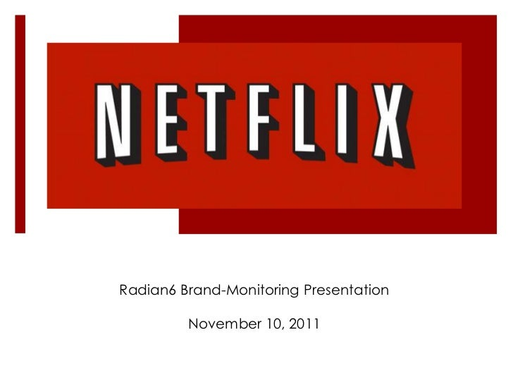 Radian6 Brand-Monitoring Presentation         November 10, 2011