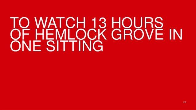 TO WATCH 13 HOURSOF HEMLOCK GROVE INONE SITTING                      23