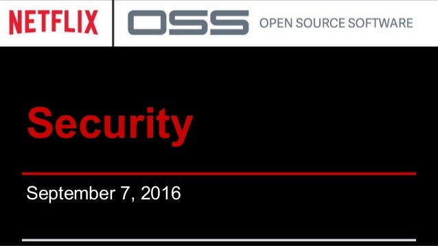 Security September 7, 2016