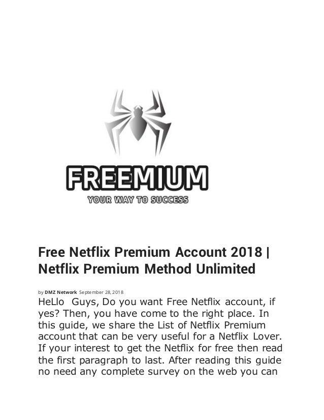 Netflix premium cookies for google chrome