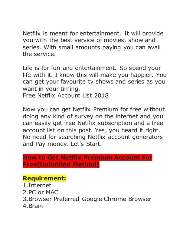 Netflix premium method unlimited-FreeMium
