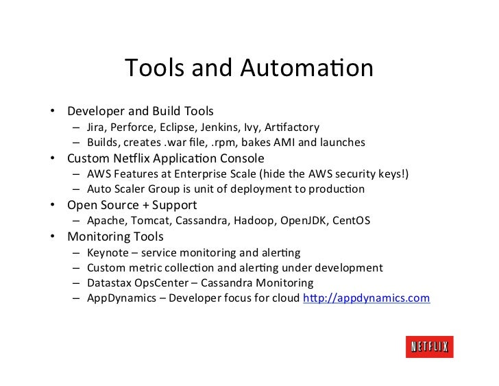 Tools and AutomaOon • Developer and Build Tools      – Jira, Perforce, Eclipse, Jenkins, Ivy, Ar...