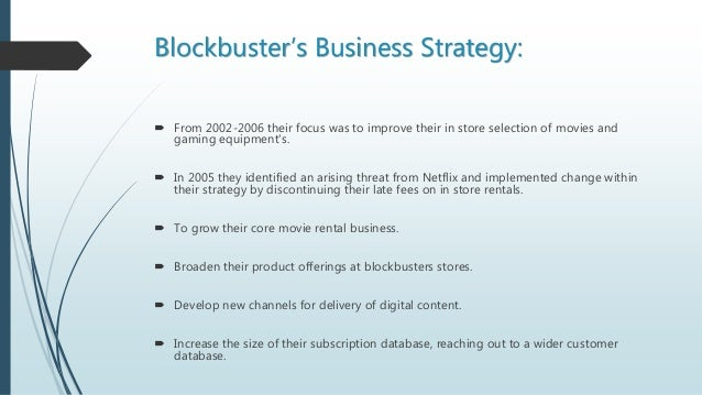 Too Big to Fail? What we can learn from Blockbuster about market strategy