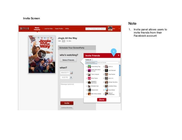 Netflix Social. Web Design Specs Slide 2