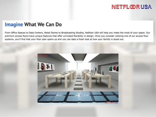 Netfloor USA Cable Management Access Flooring - What is access flooring