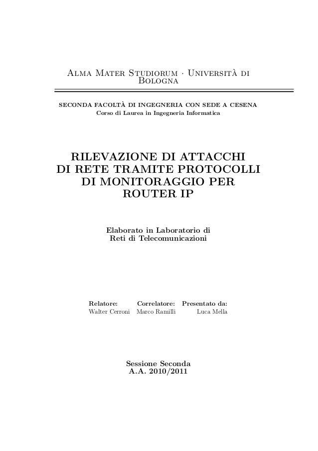 Alma Mater Studiorum · Universita di                                  `               Bologna                 `SECONDA FAC...