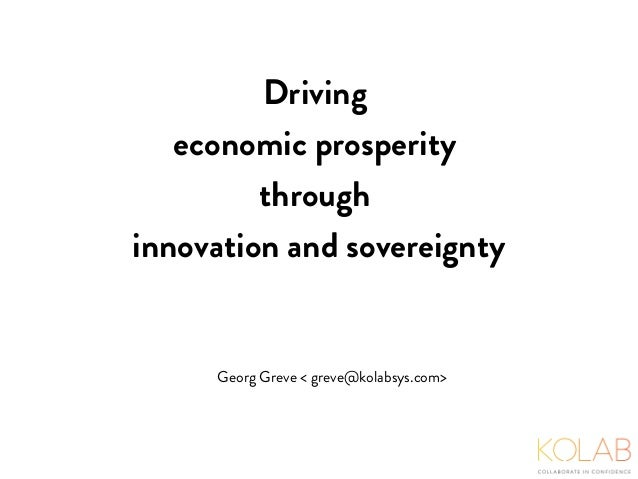 driving economic prosperity through innovation and sovereignty