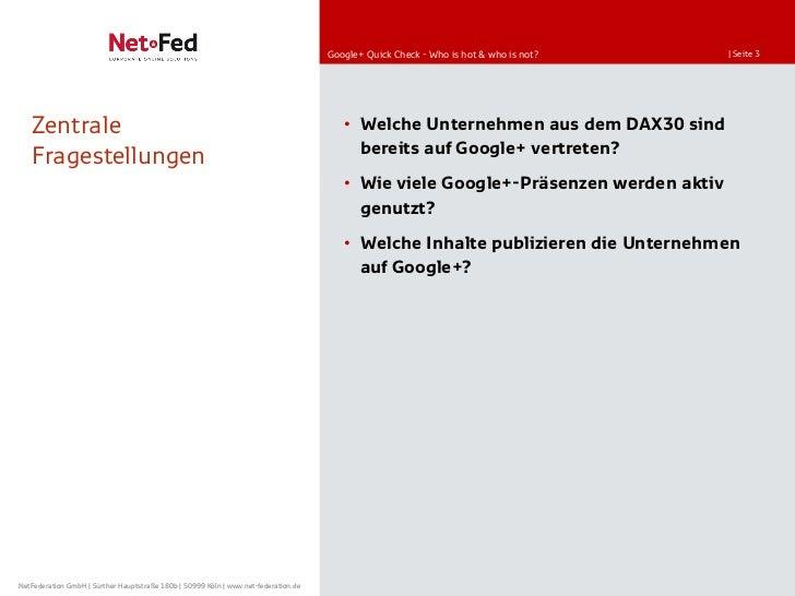 Quick Check Google+ Aktivität der DAX30 Slide 3