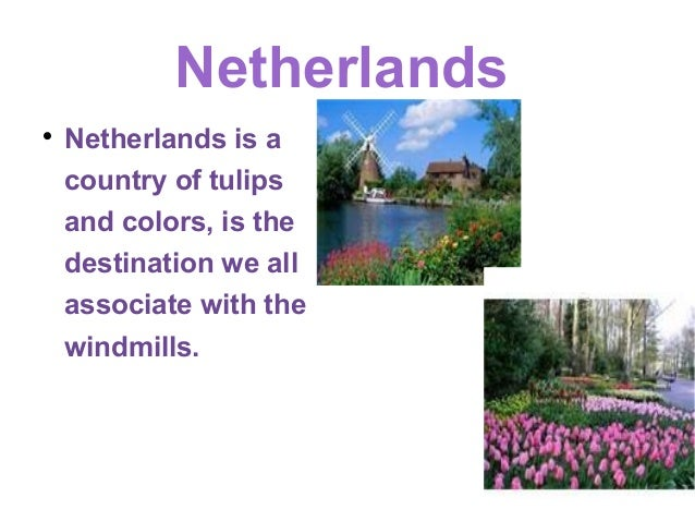 Netherlands    Netherlands is a    country of tulips    and colors, is the    destination we all    associate with the   ...