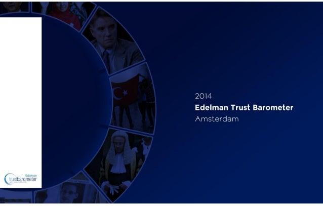Edelman Trust Barometer 2014 - The Netherlands