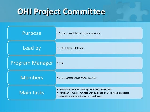 OHI Project Committee