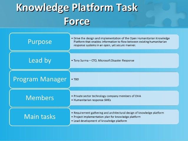 Knowledge Platform Task        Force