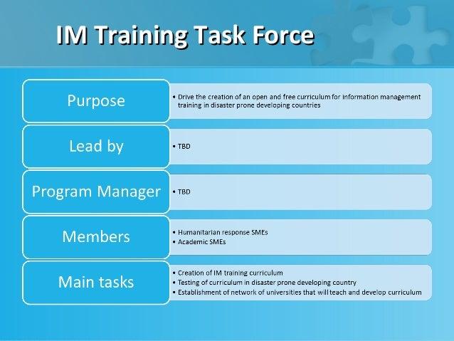 IM Training Task Force