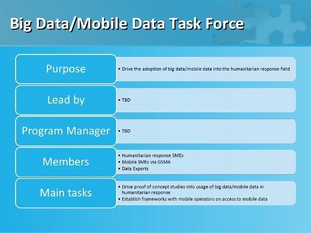 Big Data/Mobile Data Task Force