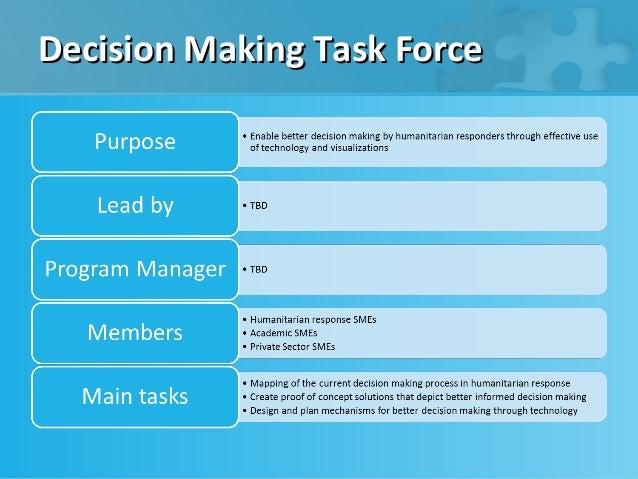 Decision Making Task Force
