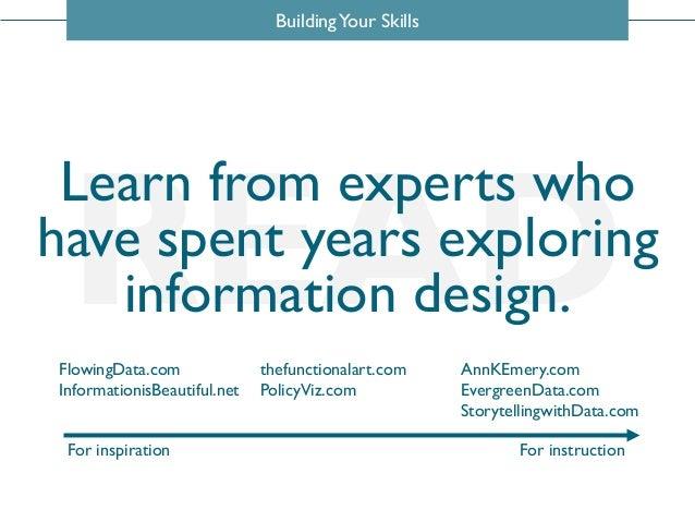 BuildingYour Skills READFlowingData.com InformationisBeautiful.net thefunctionalart.com PolicyViz.com AnnKEmery.com Evergr...