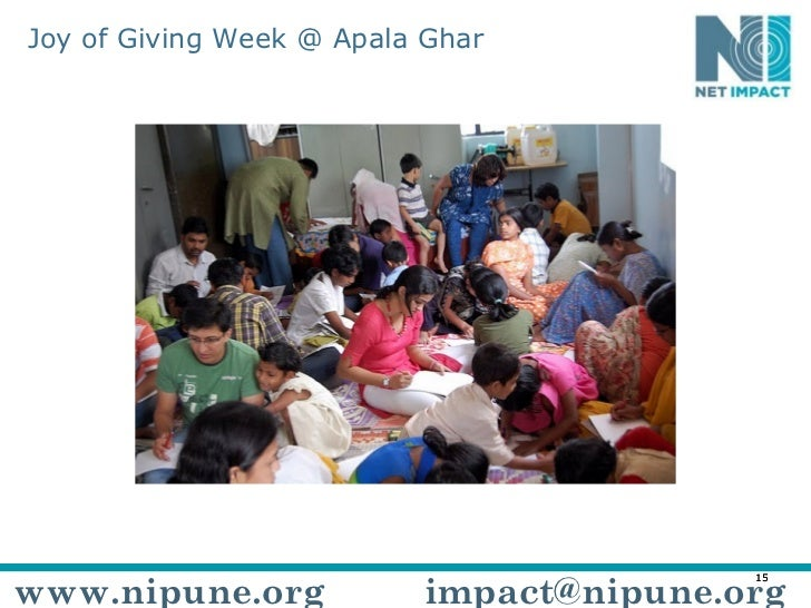 Joy of Giving Week @ Apala Ghar www.nipune.org [email_address]