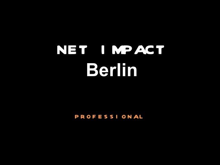 NET IMPACT Berlin professional