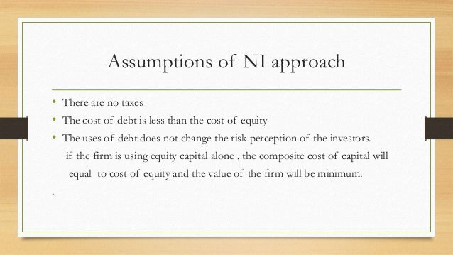 net income approach of capital structure pdf