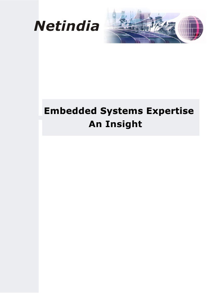Netindia      Embedded Systems Expertise         An Insight