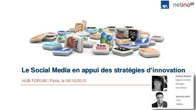 Le Social Media en appui des stratégies d'innovation HUB FORUM | Paris, le 06/10/2015
