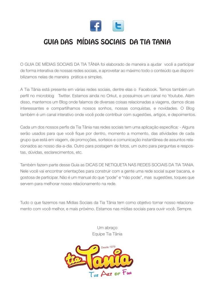 GUIA DE MIDIAS SOCIAIS E NETIQUETA TIA TANIA