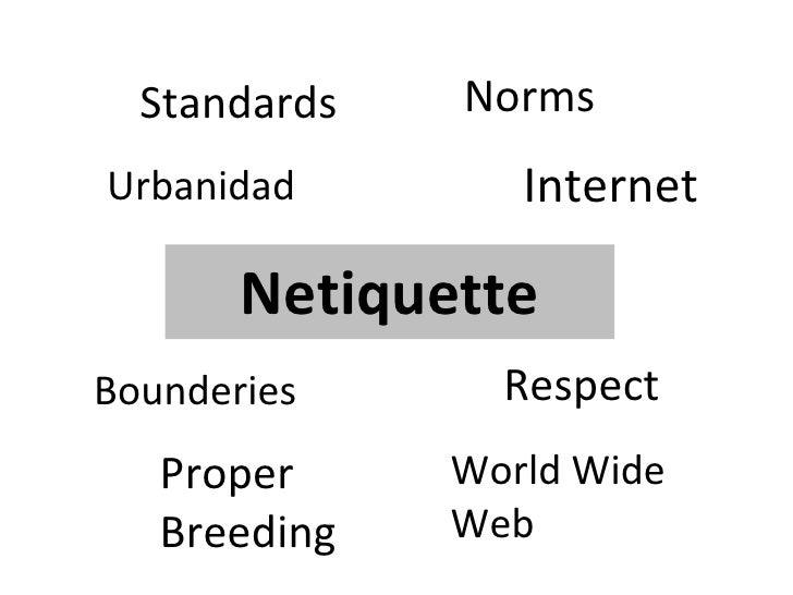 Netiquette Respect Standards Norms Bounderies Internet Proper Breeding Urbanidad World Wide Web