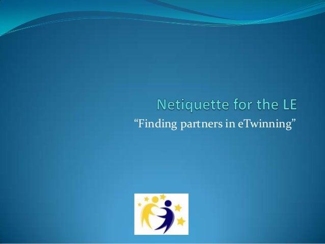 """""""Finding partners in eTwinning"""""""