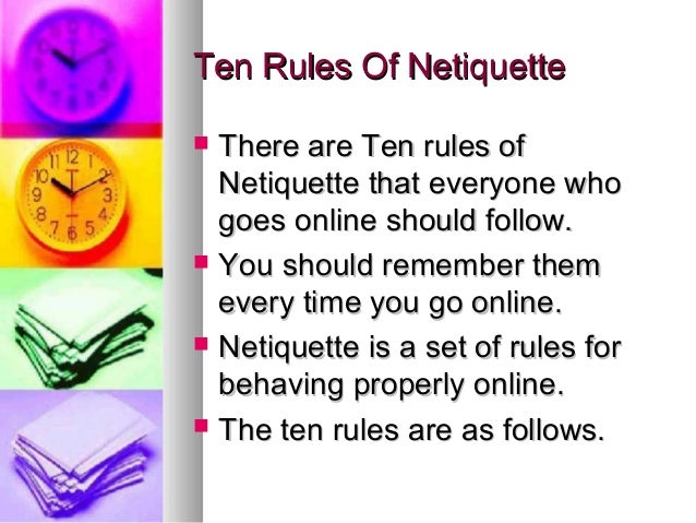 rules of online dating etiquette The new rules of online dating etiquette august 3, 2017 0 9 rules of open-office etiquette when the rules of open-office etiquette are observed.